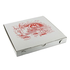 Pizzakarton Neutraldruck Modell Venezia 26x26x3cm weiß (PACK=200 STÜCK) Produktbild