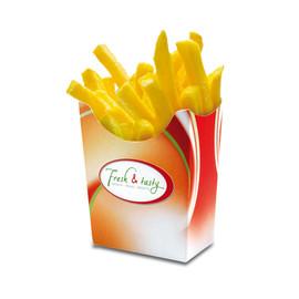 Pommes-Faltbox Fresh & Tasty klein 78x40x100mm (PACK=500 STÜCK) Produktbild