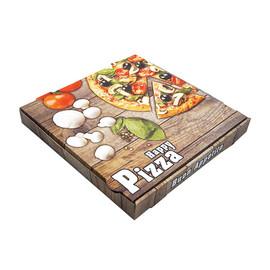 Pizzakarton Neutraldruck Modell NYC Piccante 33x33x4,2cm weiß (PACK=100 STÜCK) Produktbild