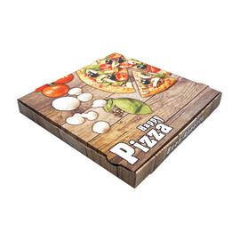 Pizzakarton Neutraldruck Modell NYC Piccante 36x36x4,2cm / braun (PACK=100 STÜCK) Produktbild
