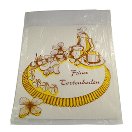Tortenbodentasche Pergamyn 30x30cm Neutraldruck Feiner Tortenboden (KTN=500 STÜCK) Produktbild
