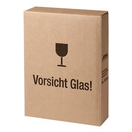Versandkarton zu Geschenkverpackung SAPHIR für 3 Flaschen braun 413380099 Produktbild