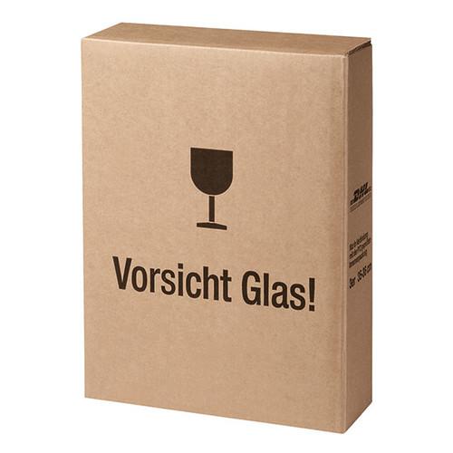Versandkarton zu Geschenkverpackung SAPHIR für 3 Flaschen braun 413380099 Produktbild Front View L
