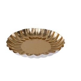 Weihnachtsteller rund Ø21cm / 250g / gold (PACK=25 STÜCK) Produktbild