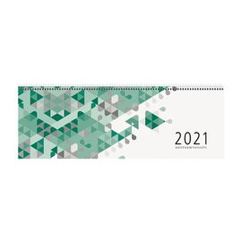 Querkalender Giganta 2021 42x14,5cm 1Woche/2Seiten grün Spiralbindung Zettler 126-0013 Produktbild