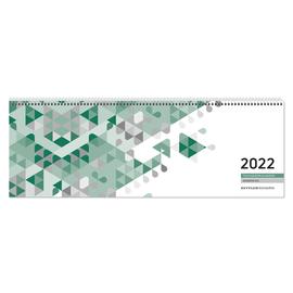 Querkalender Giganta 2022 42x14,5cm 1Woche/2Seiten grün Spiralbindung Zettler 126-0013 Produktbild