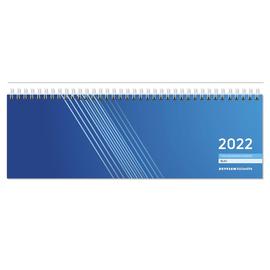 Querkalender 2022 32x11cm 1Woche/2Seiten blau Wire-O-Spiralbindung Zettler 176-0015 Produktbild