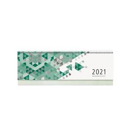 Querkalender 2021 36x10,5cm 1Woche/2Seiten grün Spiralbindung Zettler 137-0013 Produktbild