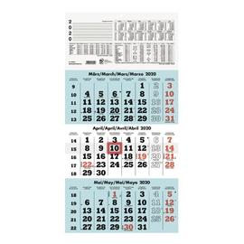 Dreimonatskalender 2020 29,5x60cm weiß/hellblau Zettler 958-0015 Produktbild