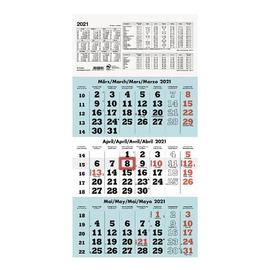 Dreimonatskalender 2021 29,5x60cm weiß/hellblau Zettler 958-0015 Produktbild