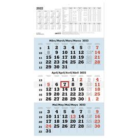 Dreimonatskalender 2022 29,5x60cm weiß/hellblau Zettler 958-0015 Produktbild