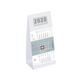 Tisch-Dreimonatskalender 2020 9,5x19,5cm grau/weiß Karton Zettler 980-0000 Produktbild