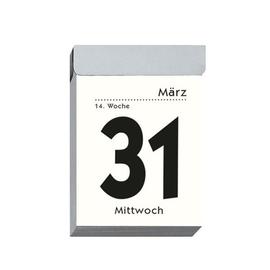 Tagesabreißkalender 2020 hoch 4x6cm 1Tag/1Seite weiß Zettler 301-0000 Produktbild