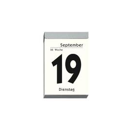 Tagesabreißkalender 2021 hoch 6,5x10cm 1Tag/1Seite weiß Zettler 304-0000 Produktbild