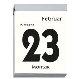 Tagesabreißkalender 2020 hoch 8x11cm 1Tag/1Seite weiß Zettler 305-0000 Produktbild