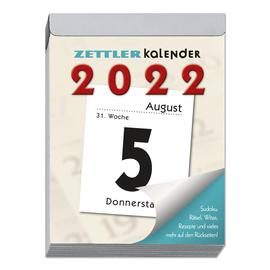 Tagesabreißkalender 2022 hoch 8x11cm 1Tag/1Seite weiß Zettler 305-0000 Produktbild