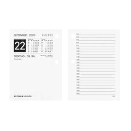 Umlegekalender 2020 für Holzuntersatz 331 8x11cm 1Tag/2Seiten weiß Zettler 336-0000 Produktbild