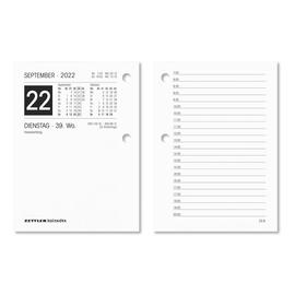 Umlegekalender 2022 für Holzuntersatz 331 8x11cm 1Tag/2Seiten weiß Zettler 336-0000 Produktbild