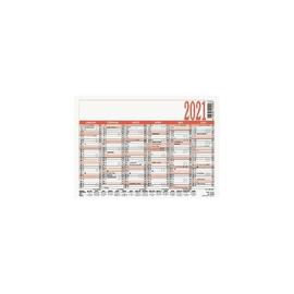 Arbeitstagekalender 2021 A6 14,8x10,5cm 6Monate/1Seite schwarz/rot Karton Zettler 900-0000 Produktbild