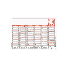 Arbeitstagekalender 2020 A5 21x14,8cm 6Monate/1Seite schwarz/rot Karton Zettler 904-0000 Produktbild