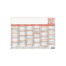 Arbeitstagekalender 2021 A5 21x14,8cm 6Monate/1Seite schwarz/rot Karton Zettler 904-0000 Produktbild