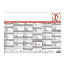 Namenstagekalender 2020 A4 29,7x21cm 6Monate/1Seite schwarz/rot Karton Zettler 905-0000 Produktbild