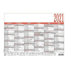Namenstagekalender 2021 A4 29,7x21cm 6Monate/1Seite schwarz/rot Karton Zettler 905-0000 Produktbild