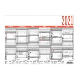 Arbeitstagekalender 2021 A4 29,7x21cm 6Monate/1Seite schwarz/rot Karton Zettler 907-0000 Produktbild