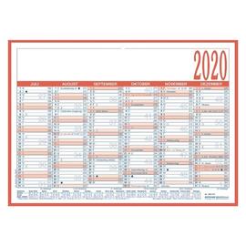 Arbeitstagekalender 2020 A4 29,7x21cm 6Monate/1Seite blau/rot Pappe kaschiert Zettler 908-1315 Produktbild