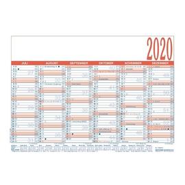 Arbeitstagekalender 2020 A4 29,7x21cm 6Monate/1Seite blau/rot Karton Zettler 910-0015 Produktbild