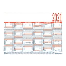 Arbeitstagekalender 2021 A4 29,7x21cm 6Monate/1Seite blau/rot Karton Zettler 910-0015 Produktbild