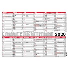 Plakatkalender 2020 A3 42x29,7cm 6Monate/1Seite schwarz/rot Karton Zettler 933-0011 Produktbild