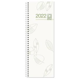 Wochenvormerkbuch 2022 10,5x29,5cm 1Woche/1Seite farbig sortiert Wire-O-Spiralbindung Zettler 718-0001 Produktbild