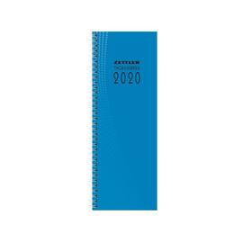Tagebuch 2020 10,5x29,5cm 2Tage/1Seite farbig sortiert Wire-O-Spiralbindung Zettler 800-0001 Produktbild
