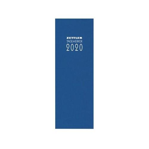 Tagebuch 2020 10,5x29,5cm 1Tag/1Seite farbig sortiert Leinen Zettler 808-0001 Produktbild