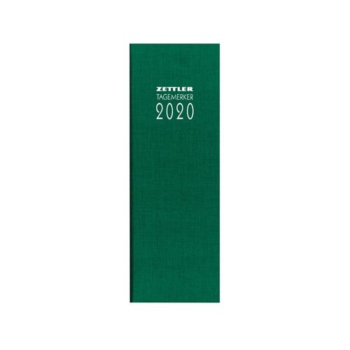 Tagebuch 2020 10,5x29,5cm 1Tag/1Seite farbig sortiert Leinen Zettler 808-0001 Produktbild Additional View 1 L