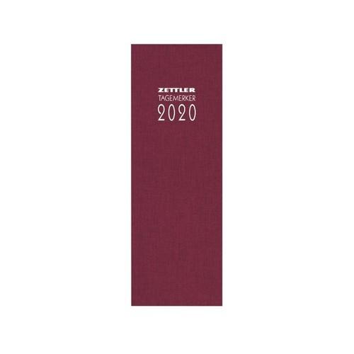 Tagebuch 2020 10,5x29,5cm 1Tag/1Seite farbig sortiert Leinen Zettler 808-0001 Produktbild Additional View 2 L