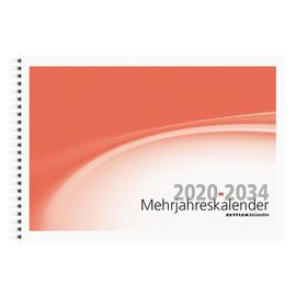Mehrjahreskalender ab 2020 14Jahre 30x20,5cm 6Monate/1Seite weiß/rot Zettler 991-1200 Produktbild