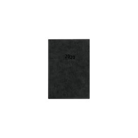 Buchkalender 2020 A5 15x21cm 1Tag/1Seite anthrazit wattiert Zettler 836-0021 Produktbild