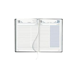 Buchkalender 2021 A5 15x21cm 1Tag/1Seite anthrazit wattiert Zettler 836-0021 Produktbild