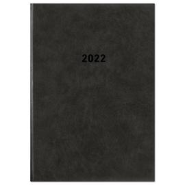 Buchkalender 2022 A5 15x21cm 1Tag/1Seite schwarz wattiert Zettler 876-0020 Produktbild