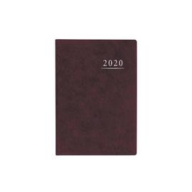 Terminbuch 2020 A4 21x29,5cm 1Tag/1Seite weinrot wattiert Zettler 886-0011 Produktbild
