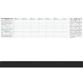 Schreibunterlage Practica mit Kalen- darium 2021 und schwarzer Leiste 37x60cm 52Blatt Papier Zettler 102-1020 Produktbild