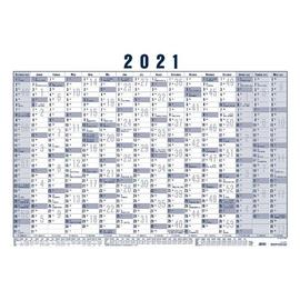 Plakatkalender 2021 ca. A1 100x61cm 16Monate/1Seite weiß/blau Zettler 918-0015 Produktbild