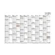 Plakatkalender 2021 A2 61x43cm 12Monate/1Seite grau/rot Zettler 938-0011 Produktbild