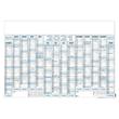 Plakatkalender 2022 ca. A1 100x70cm 14Monate/1Seite grau/blau Zettler 915-0015 Produktbild