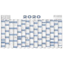 Plakatkalender 2020 ca. A0 140x80cm 15Monate/1Seite schwarz/blau Zettler 917-0015 Produktbild