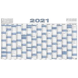 Plakatkalender 2021 ca. A0 140x80cm 15Monate/1Seite schwarz/blau Zettler 917-0015 Produktbild