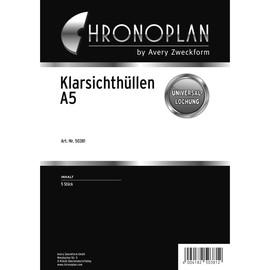 Klarsichthüllen für Organizer A5 148x210mm transparent Chronoplan 50381 (PACK=5 STÜCK) Produktbild