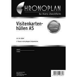 Visitenkartenhüllen für Organizer A5 175x210mm Chronoplan 50384 (PACK=3 STÜCK) Produktbild